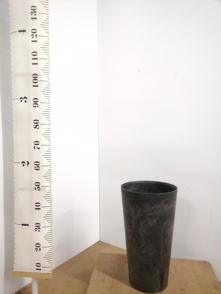 鉢カバー  アートストーン トールラウンド 8号鉢用 ブラック #GREENPOT AS-120108