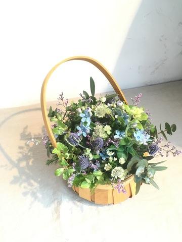 草花系 アレンジメント ブルー&パープル S