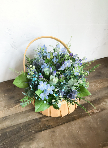 草花系 アレンジメント ブルー&パープル M