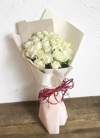 バラ 花束 ホワイト M (30本入)