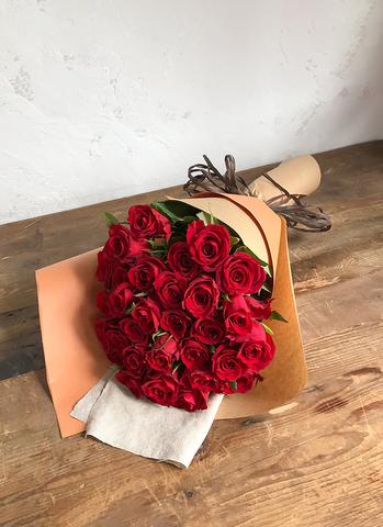 バラ 花束 レッド M (30本入)