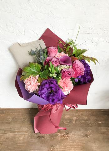 バラ 花束 紫 S ナチュラルブーケ