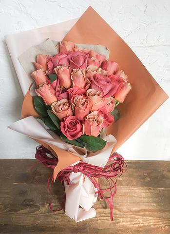 バラ 花束 ブラウン M  (30本入り)
