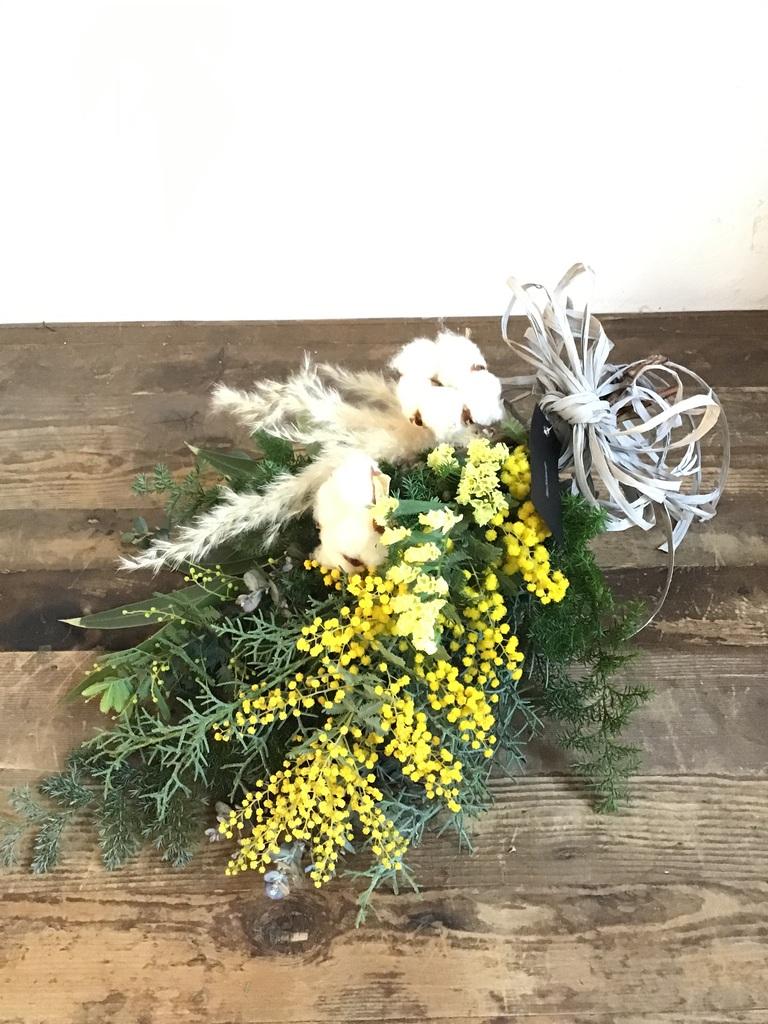 【季節の花:2月】 ミモザ スワッグ Sサイズ
