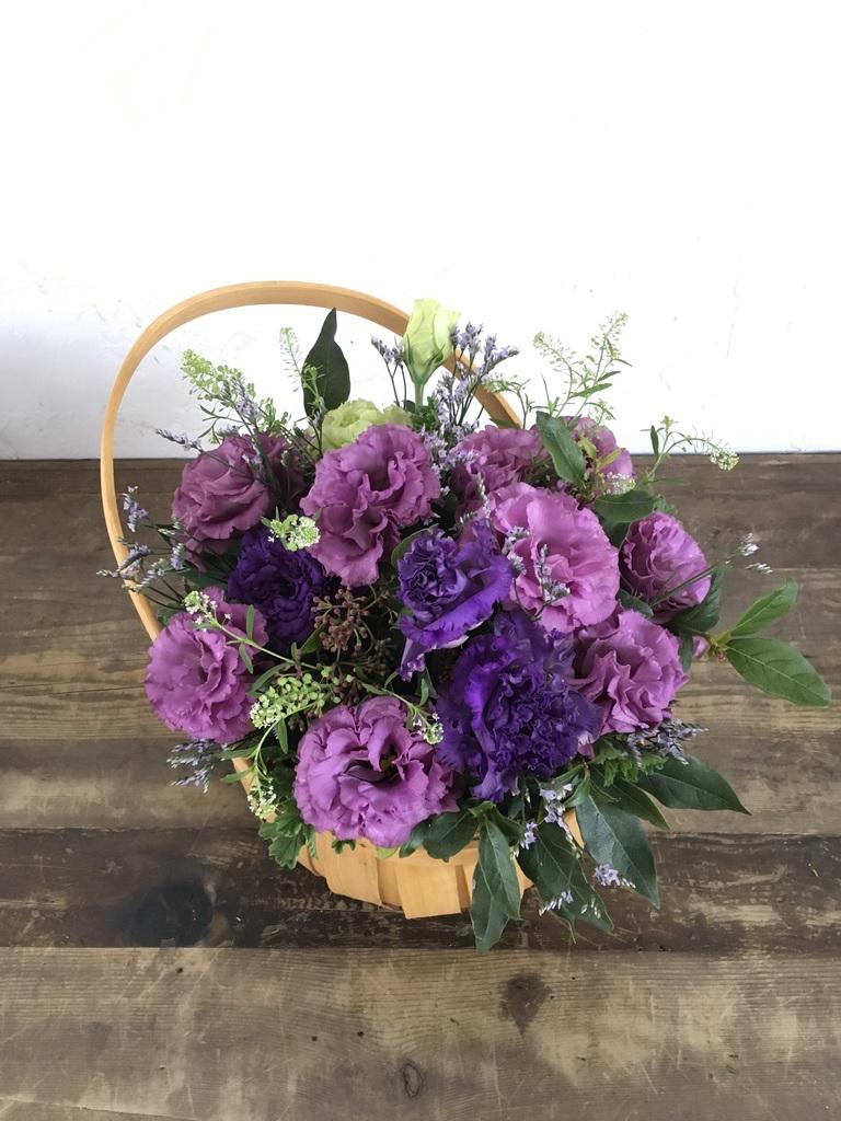 トルコキキョウ アレンジメント 紫 M