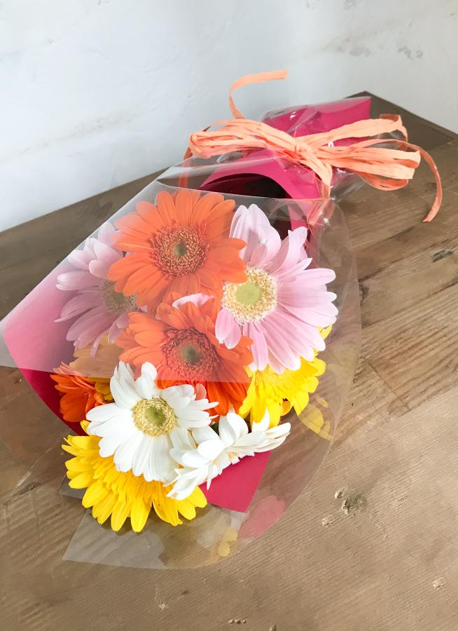 ガーベラ 花束 ミックス S (20本入り)