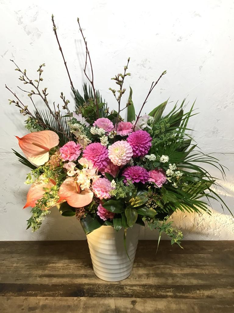 【全国配送】 ピンク系 季節の豪華アレンジメント 10,000円