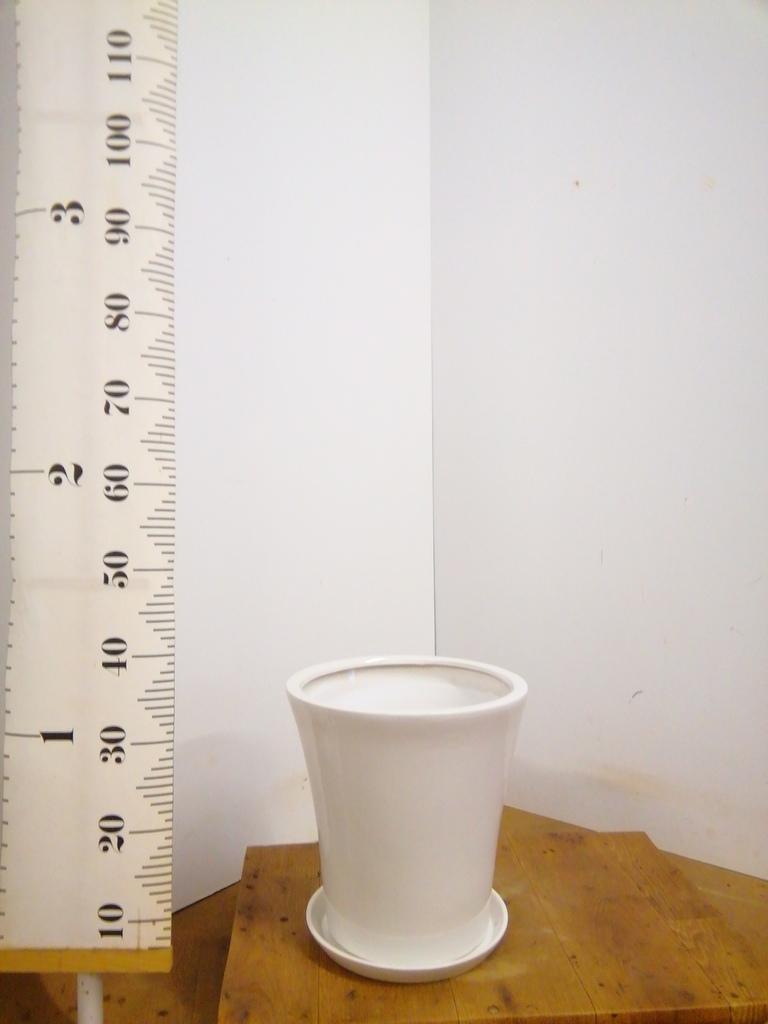 鉢カバー  サブリナ 8号鉢用 白 #ミュールミル S002SWh