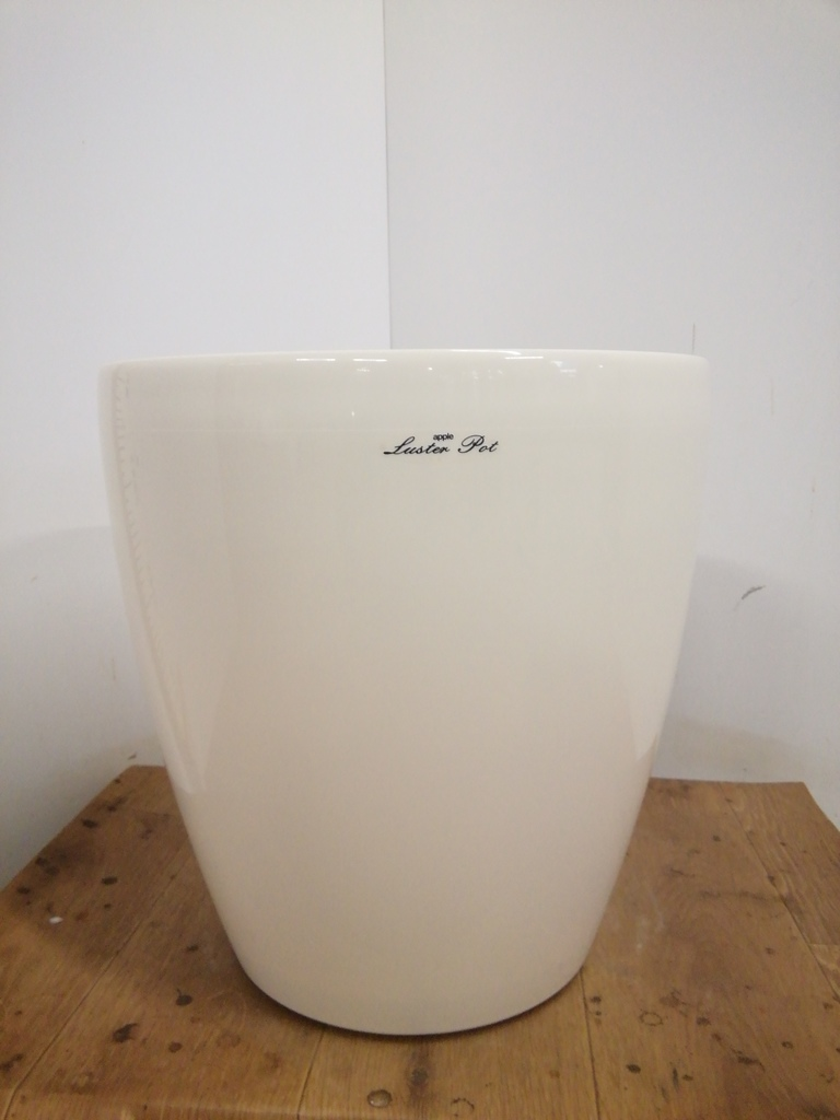 鉢カバー  ラスターポット 10号鉢用 white #アップルウェア 370型