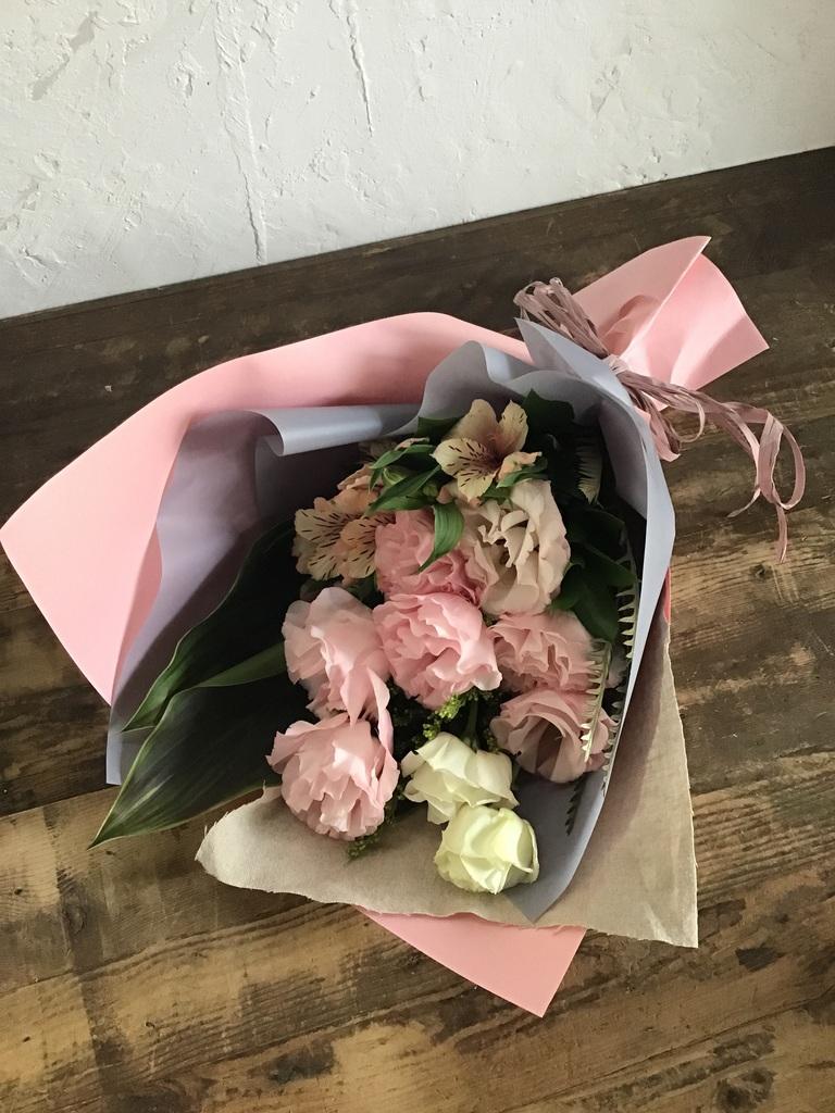 トルコキキョウ 花束 ピンク S スタンダード
