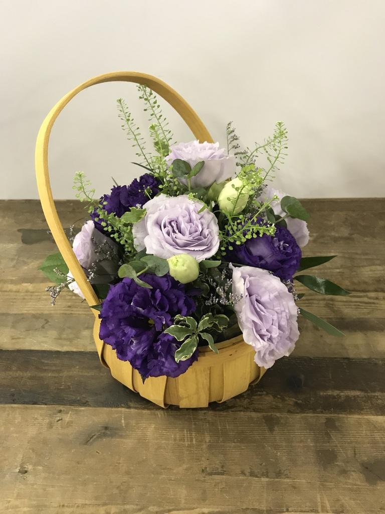 トルコキキョウ アレンジメント 紫 S
