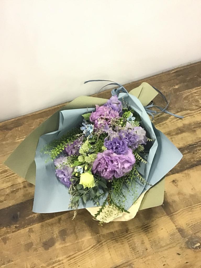 トルコキキョウ 花束 紫 S スタンダード