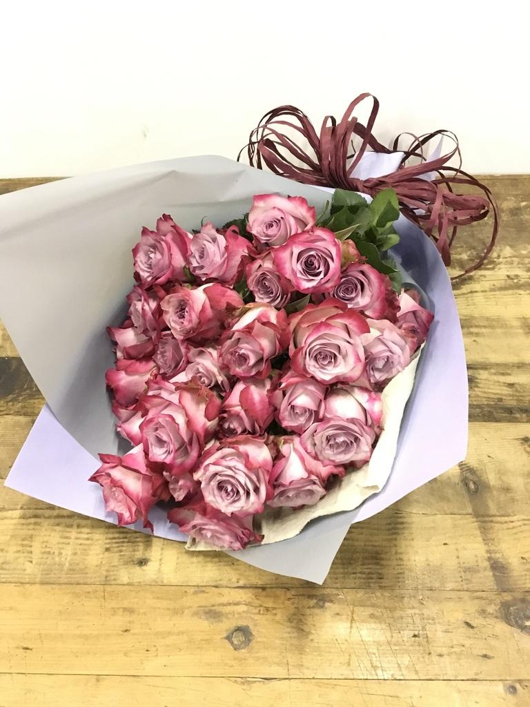 バラ 花束 パープル M (30本入)