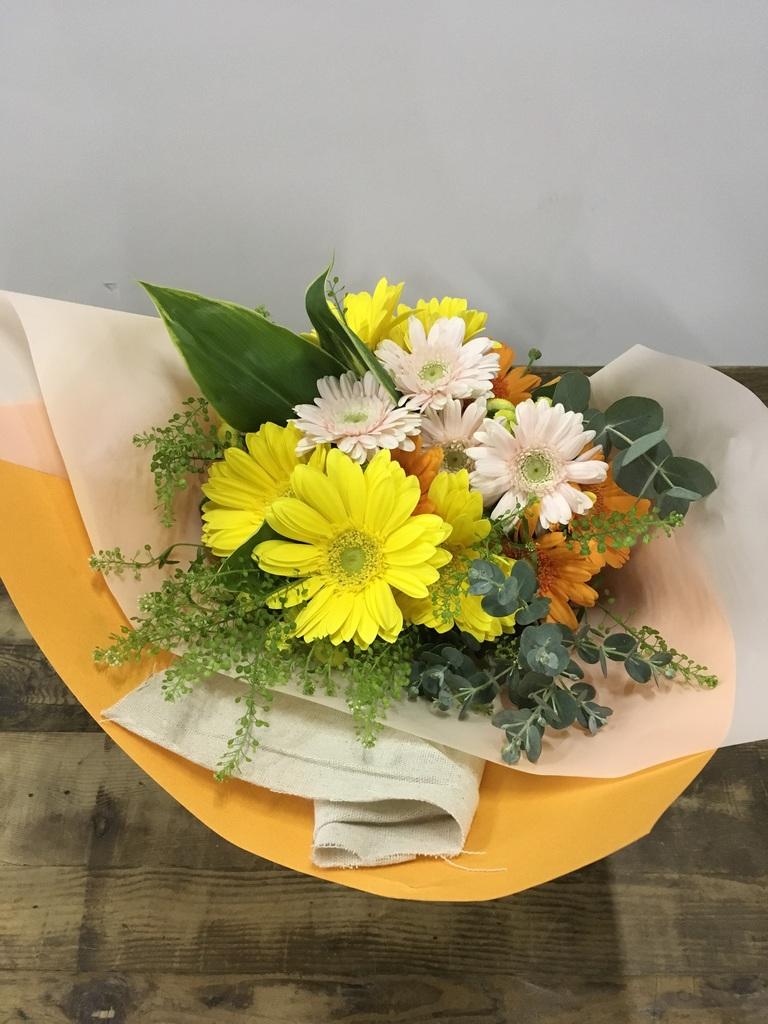 ガーベラ 花束 オレンジ S スタンダード