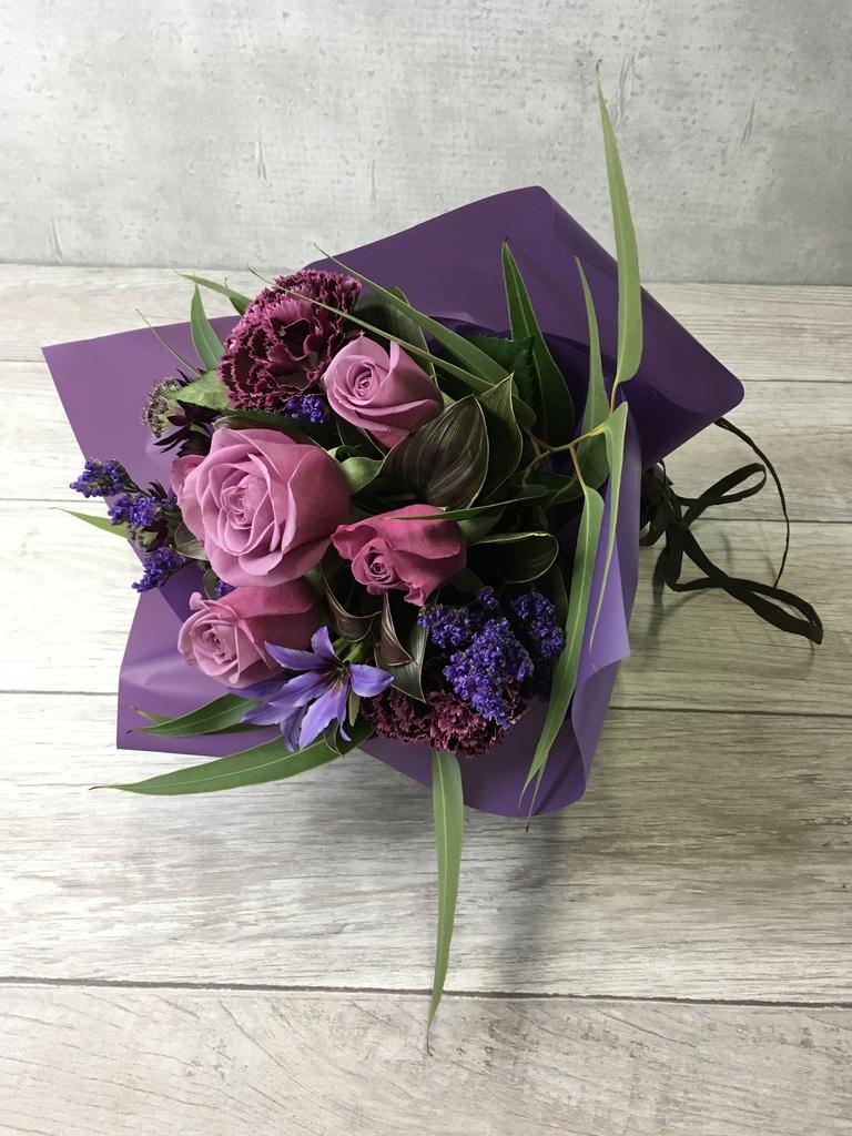 バラ 花束 紫 SS ナチュラルブーケ【送料無料】