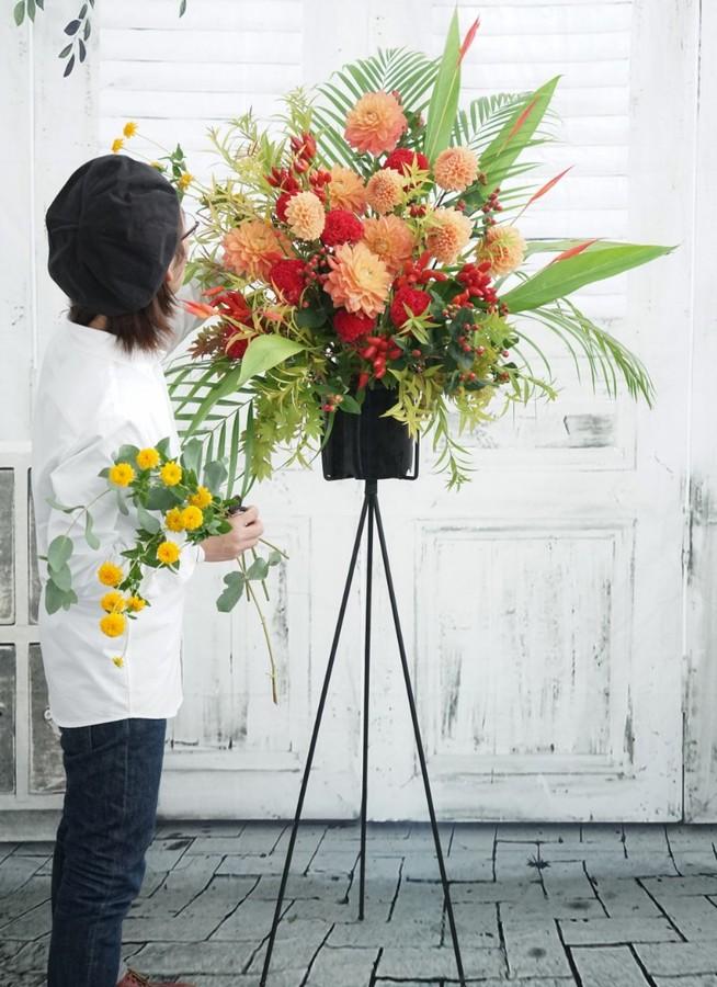 【全国配送】 フローリストにお任せ 季節のお祝いスタンド花 20,000円 【エリア限定回収】