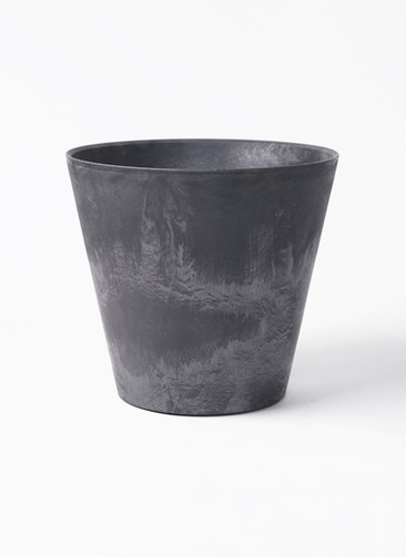 鉢カバー  アートストーン ラウンド 8号鉢用 ブラック