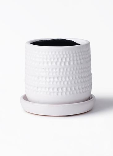 鉢カバー  ソルドットポット 4号鉢用 ホワイト