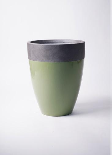 鉢カバー  ファイバーストーン カプリ 8号鉢用 緑 #KONTON FS-201G36E