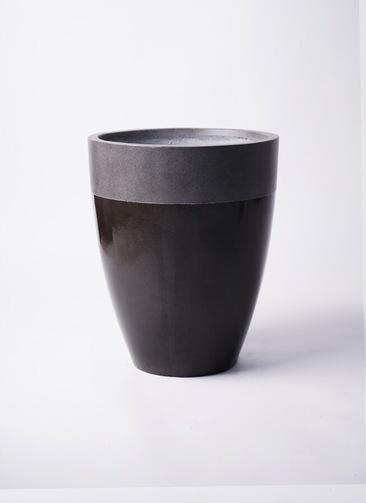 鉢カバー  ファイバーストーン カプリ 8号鉢用 黒 #KONTON FS-201K36E