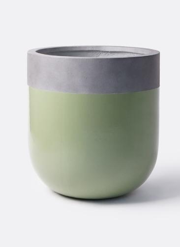 鉢カバー  バルゴ ツートーン 10号鉢用 緑 #KONTON FS-203G40E