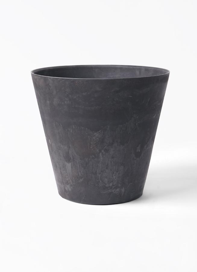鉢カバー  アートストーン ラウンド 10号鉢用 ブラック