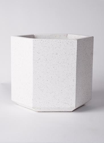 鉢カバー  コーテス ヘックス  8号鉢用 ホワイトテラゾ