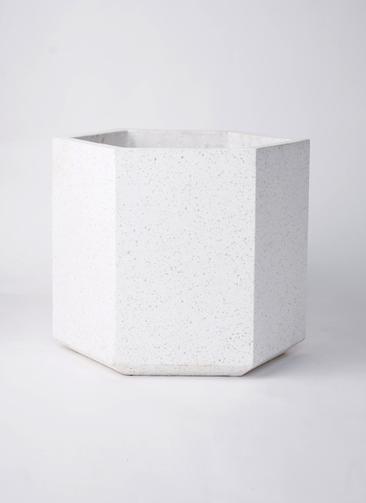鉢カバー コーテス ヘックス 10号鉢用 ホワイトテラゾ #KONTON CT-006W13E