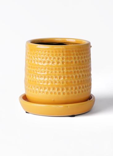 鉢カバー  ソルドットポット 4号鉢用 イエロー