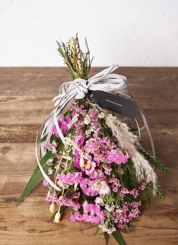 【季節の花:春】 スターチス スワッグ(ピンク系) Sサイズ