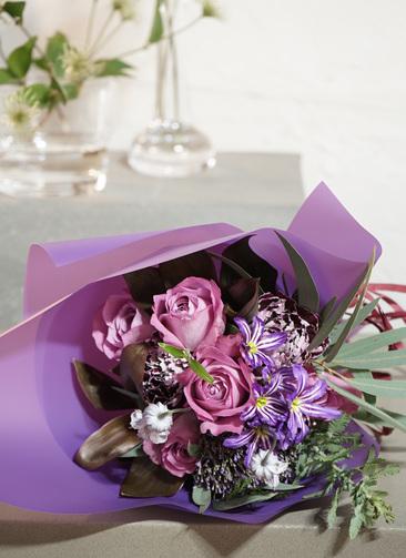 バラ 花束 紫 SS ナチュラルブーケ【送料無料】#2019母の日