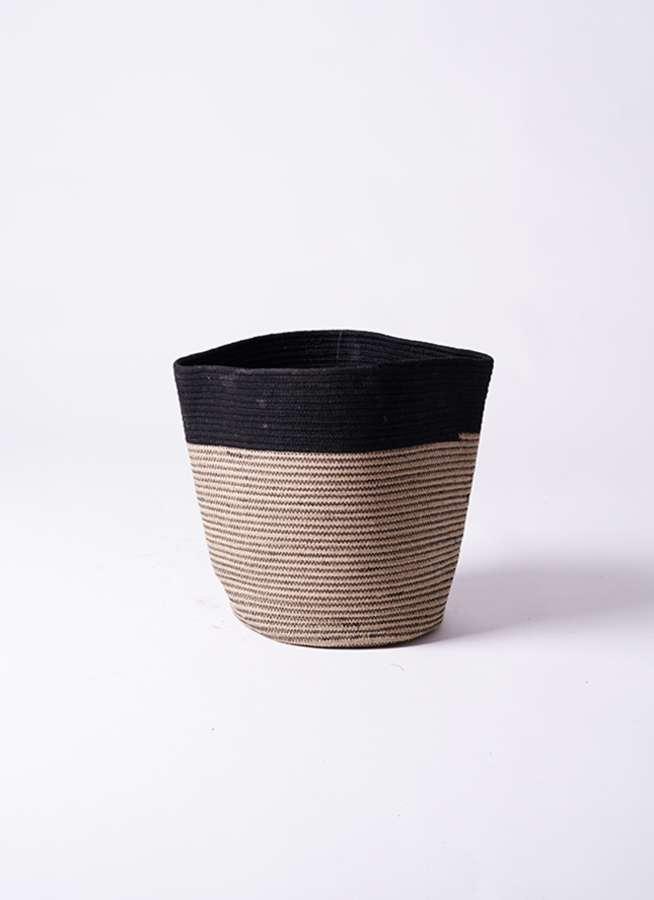 鉢カバー  Rib Basket(リブバスケット) 6号鉢用 Natural and Black #stem B5233