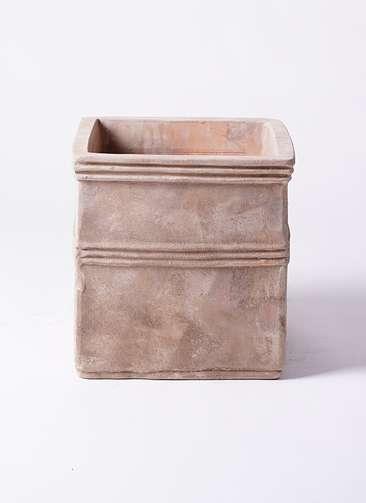 鉢カバー  テラアストラ カペラキュビ 8号鉢用 赤茶色 #KONTON AS-FQ6X13E
