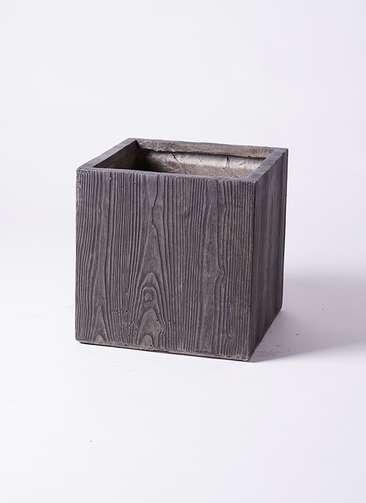 鉢カバー  ベータ キューブプランター ウッド 8号鉢用 茶 #KONTON FM-002D36E
