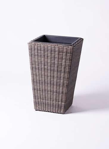 鉢カバー  ウィッカーポット スクエアロング OT 8号鉢用 茶