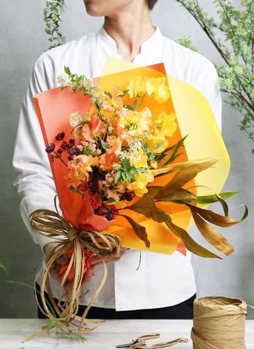スイートピー 花束 オレンジ SS