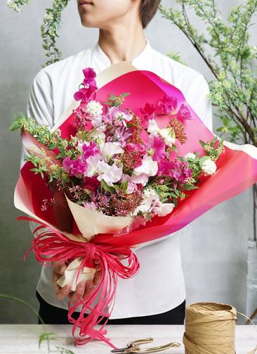 スイートピー 花束 ピンク S