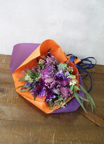 チューリップ 花束 パープル SS