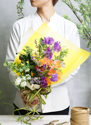 スイートピー 花束 パープル SS