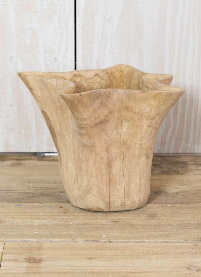 鉢カバー  Carving Pot(カービングポット) 5号鉢用 Natural #stem W3756
