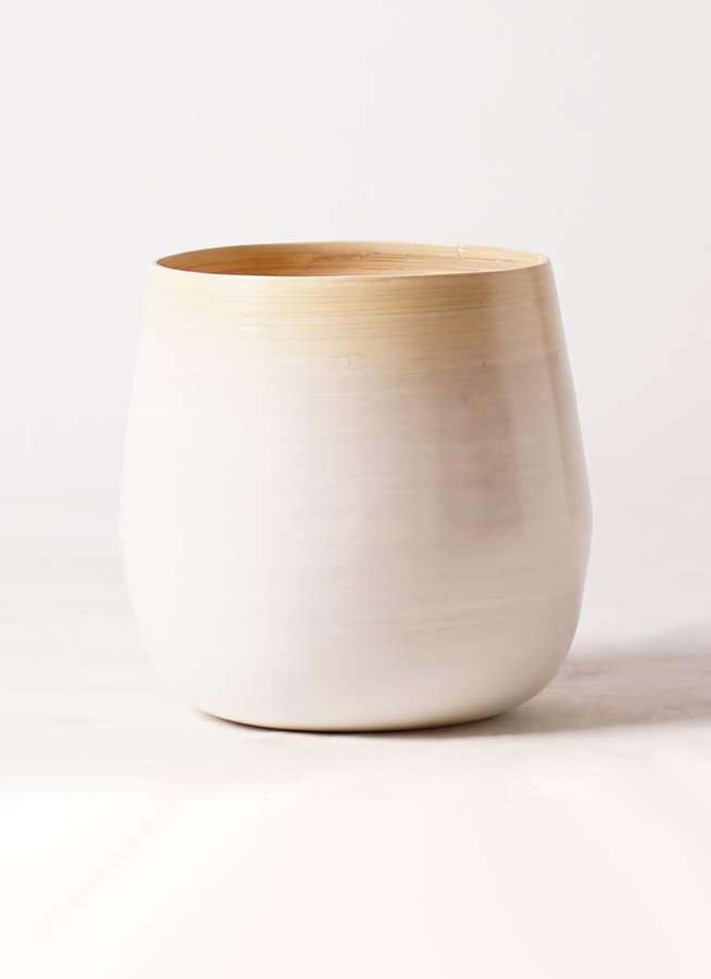 鉢カバー  ササール 8号鉢用 白 #ミュールミル VR-001LMWh