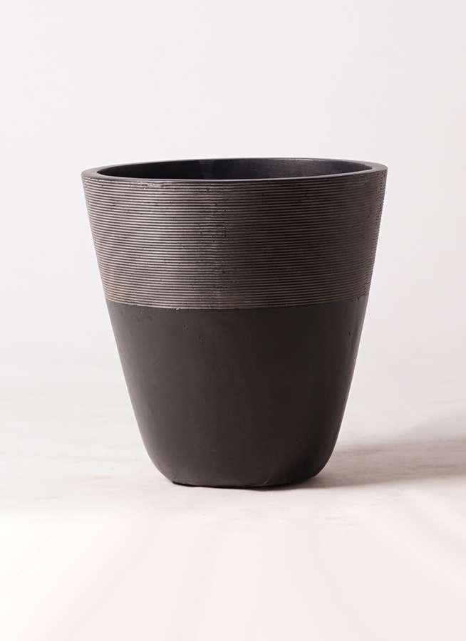 鉢カバー  ジュピター 8号鉢用 黒 #ミュールミル TL001-MBk