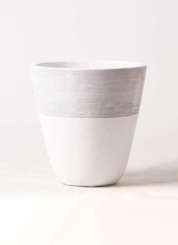 鉢カバー  ジュピター 8号鉢用 白 #ミュールミル TL001-MWh