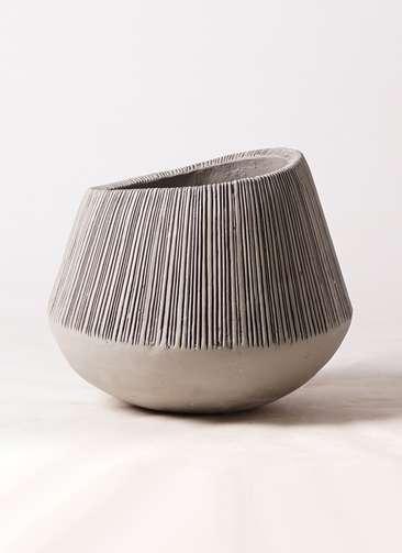 鉢カバー  エディラウンド 8号鉢用 グレイ #ミュールミル TL-012-1LGy