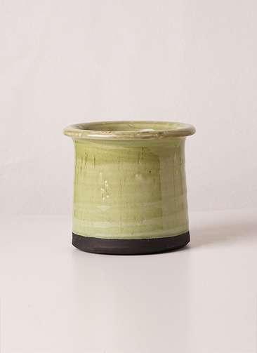 鉢カバー  Antique Terracotta(アンティークテラコッタ) グリーン 3号 #stem c2357