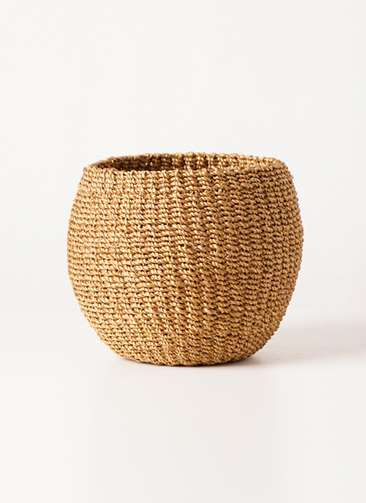 鉢カバー  Abaca Basket(アバカバスケット) タン 4号