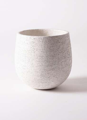 鉢カバー Eco Stone(エコストーン) 6号鉢用 white #stem F1805