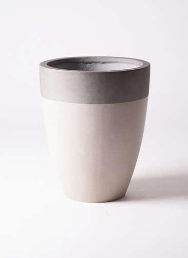 鉢カバー  ファイバーストーン カプリ 8号鉢用 サンディホワイト #KONTON FS-201S36E