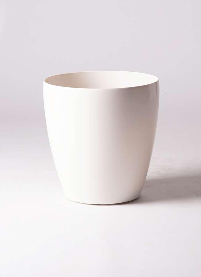 鉢カバー  ラスターポット 10号鉢用 white
