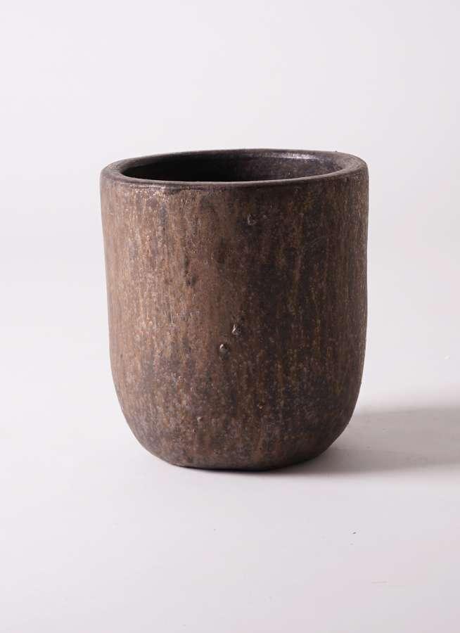 鉢カバー  ウーヌム ユーポット M10 6号鉢用 ブロンズ釉 #KONTON VR-001C10E